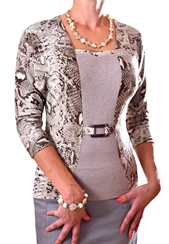 Poshtops - Camiseta - para mujer marrón