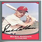 Richie Ashburn Autographed / Signed 1990 Pacific Card