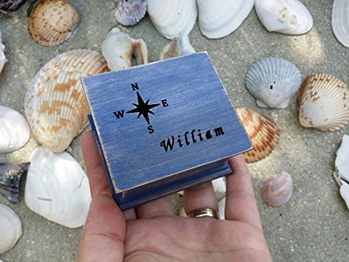 Music box, custom made music box, compass, compass rose, nautical gift, handmade music box, personalized gift, personalized music box, simplycoolgifts