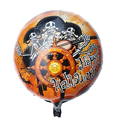 Boomboom Halloween Pumpkin 18 Inch Aluminum Film Balloons (Cartoon Halloween Films 2017)