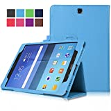 FanTEK Samsung Galaxy Tab A 8.0 SM-T350 8-Inch Tablet Case - PU Leather Multi-Angle Stand Auto Sleep Wake Magnetic Smart Cover (Light Blue)