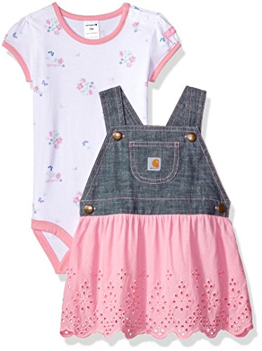 Carhartt Baby Girls Sets, Chambray, (Girls Chambray Jumper)