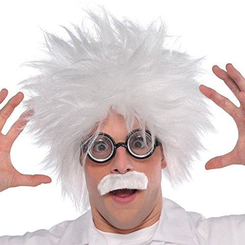 Amscan Fun-Filled Costume Party Mad Scientist Kit (1 Piece), One Size, White/Black