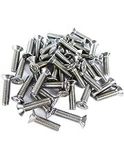 Hyfive M4x16 verzonken Posi aandrijfmachine schroeven (10 schroeven) in A2 roestvrij staal, schroefdraad: 0,7 mm