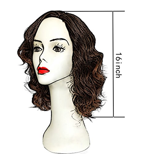 Synthetic None-lacewigs Synthetic Wigs Useful Wtb Womens Vintage Rockabilly Natual Looking Wig Short Curly Wigs Long Wavy Wigs For Black Women African American Bob Wigs
