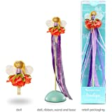 Mönelie Fairy Doll Set - PENELOPE (Includes a Doll, Ribbon Wand & Stand)