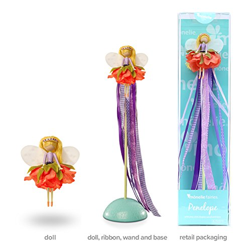 Doll Fairy Plush (Mönelie Fairy Doll Set - PENELOPE (Includes a Doll, Ribbon Wand & Stand))