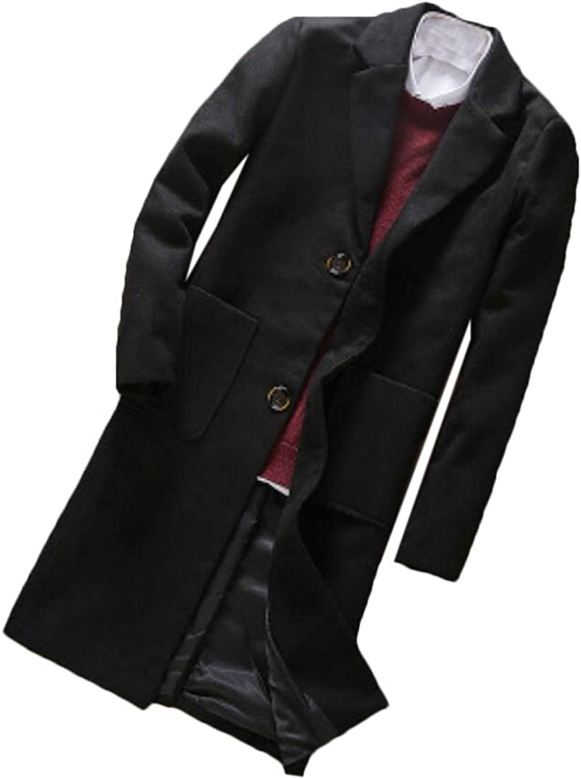 Mens Coat Wool Classic Jacket Winter Stylish Trench Coat