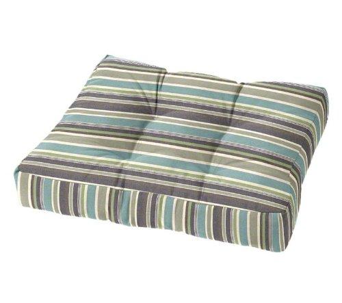 Tufted Ottoman Cushion (Sunbrella Brannon Whisper)
