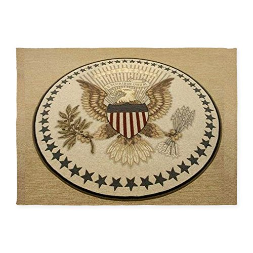 CafePress - Presidential Seal 539;X739;Area Rug - Decorative Area Rug, 5'x7' Throw Rug (Seal Presidential)