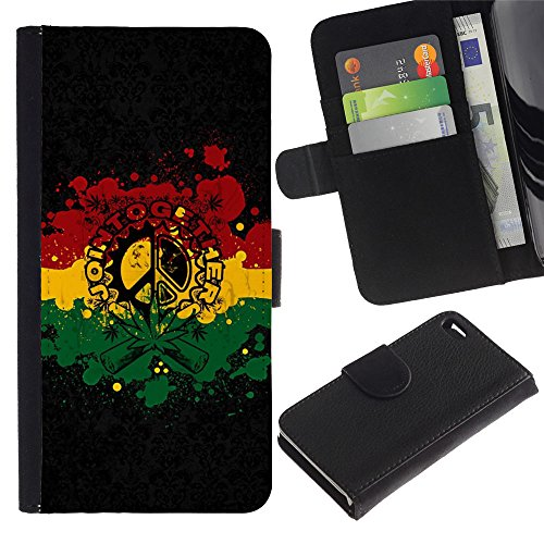 LeCase - Apple Iphone 4 / 4S - Join Together - Cuir PU Portefeuille Coverture Shell Armure Coque Coq Cas Etui Housse Case Cover Wallet Credit Card