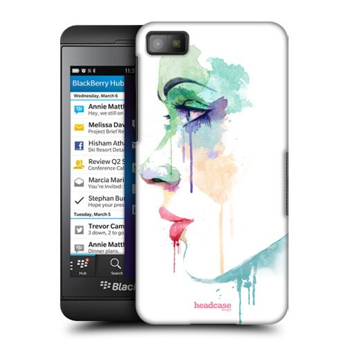 Head Case Designs Enchant Faces in Watercolour Protective Snap-on Hard Back Case Cover for BlackBerry Z10