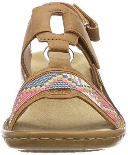 Brown 22 Toe Cognac Women's 608y0 Sandals Rieker Closed CfqwFB