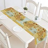 Sunflower By Vincent Van Gogh Cotton Linen Placemat Table Runner 14'' x 72''
