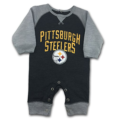 Pittsburgh Steelers Baby Clothes (NFL Pittsburgh Steelers Newborn Legacy Coverall, 6-9)