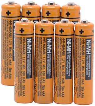 8pcs AAA Recargable para HHR-65AAABU para Panasonic teléfono inalámbrico batería Ni-MH 1.2 V 630 mAh Original Nuevo con Carcasa de plástico: Amazon.es: Electrónica