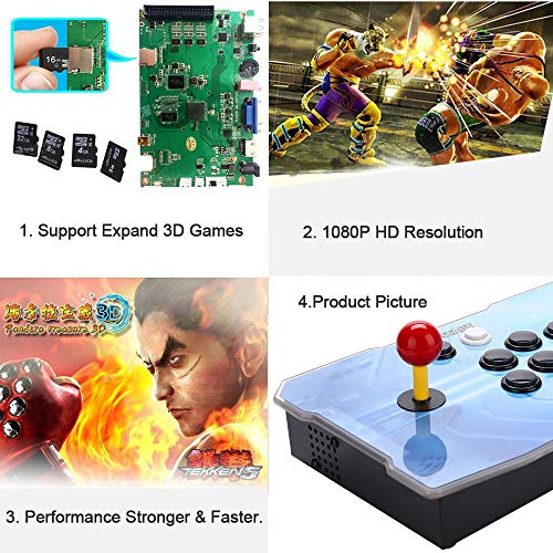 3D Pandora Key Retro Arcade Video Game Console | No Games Pre-loaded | Full HD (1920x1080) Video | 2 Player Game Controls | Support 4 Players | Add More Games | HDMI/VGA/USB/AUX Audio Output by HAAMIIQII (Image #4)