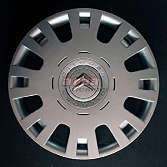 SET OF 4 WHEEL TRIMS-C4 CITROEN BERLINGO LOG DIAMETER 15-INCH CHROME: Amazon.co.uk: Car & Motorbike