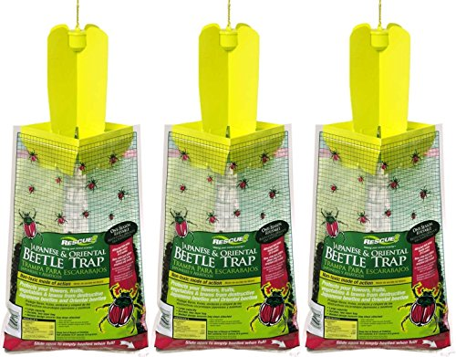 Rescue - Disposable Japanese/Oriental Beetle Trap (3 (Japanese Beetle Trap Bag)