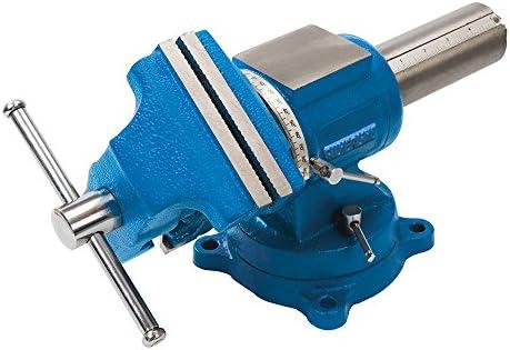 Silverline 979965 Tornillo de banco multifunción, Azul, 125 mm ...