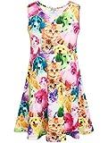 Liliane Unicorn Dress Girls Unicorn Dress Summer Dresses for Girls(A007,6-7Y)