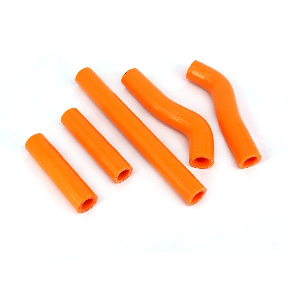 Fast Pro silicone rinforzato radiatore kit tubi per EXC 400 450 525 02 - 06 arancione