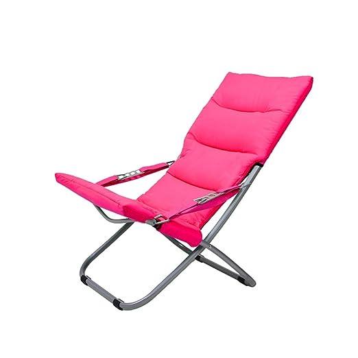 L-SYJH Sillas de playa para exteriores, sillones reclinables ...