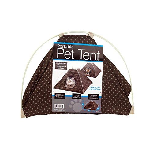 Kole KI-OF413 Portable Pet Tent with Soft Fleece Pad, One Size
