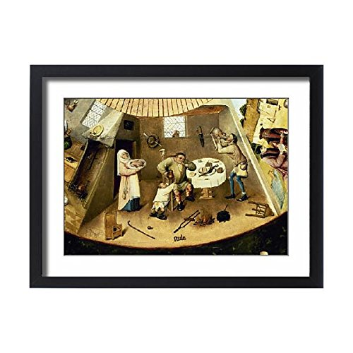 Framed 24x18 Print of Table of the Seven Deadly Sins by Hieronymus Bosch (14406372) ()