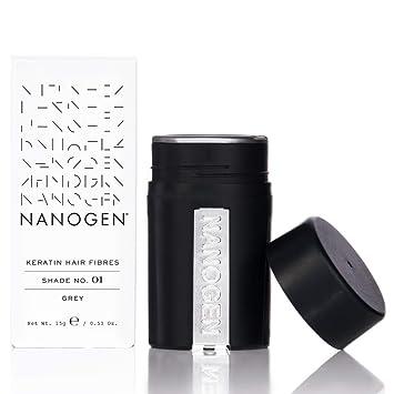 Nanogen fibras capilares queratina, Gris, 15 g: Amazon.es: Belleza