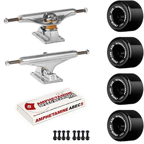 Powell-Peralta Old School Skateboard Pack Independent 169 Trucks Rat Bones Black Wheels W/Bearings - Rat Bones
