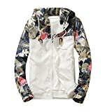 iYYVV Mens Thin Embroidery Rose Casual Sports