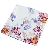 Lovely Item Women's Cotton Floral Print Handkerchief Towel Pocket Square Hanky