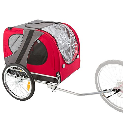 Rage Powersports PT-10117-R Red Pull-Behind Dog Bicycle Trailer with an 85 lb. Capacity ()