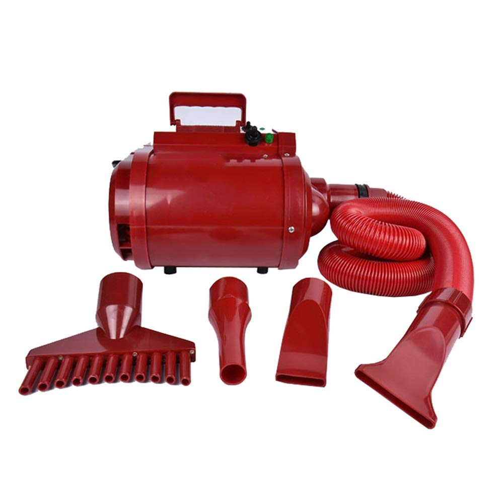 RED 4-speed RED 4-speed Dog Dryer, Cat Professional Shower Beauty Adjustable Temperature Grooming Hair Pet Low Noise Bathing Accessories (color   RED, Size   4-speed)