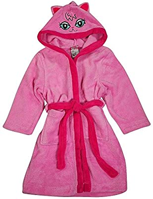 Sweet n Sassy - Little Girls Long Sleeve Hooded Robe