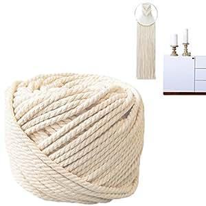 Natural Cotton Bohemia Macrame DIY Wall Hanging Plant Hanger Craft Making Knitting Cord Rope Natural Color 3mm 4mm 5mm (4mm)