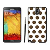 Armor Protective Case for Galaxy Note 3 Case,Samsung Galaxy Note 3 Protective S View Coer Protective Case Polka Dot White and Dark Brown Samsung Galaxy Note 3 Case Black Cover
