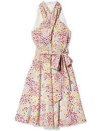Women's Sleeveless Criss Cross Halter Neck Dress