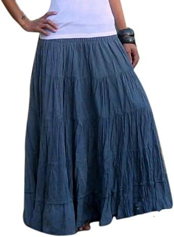 huateng Falda Larga - Cintura Elástica para Mujer Faldas Bastante Casuales Festival Holiday: Amazon.es: Ropa y accesorios