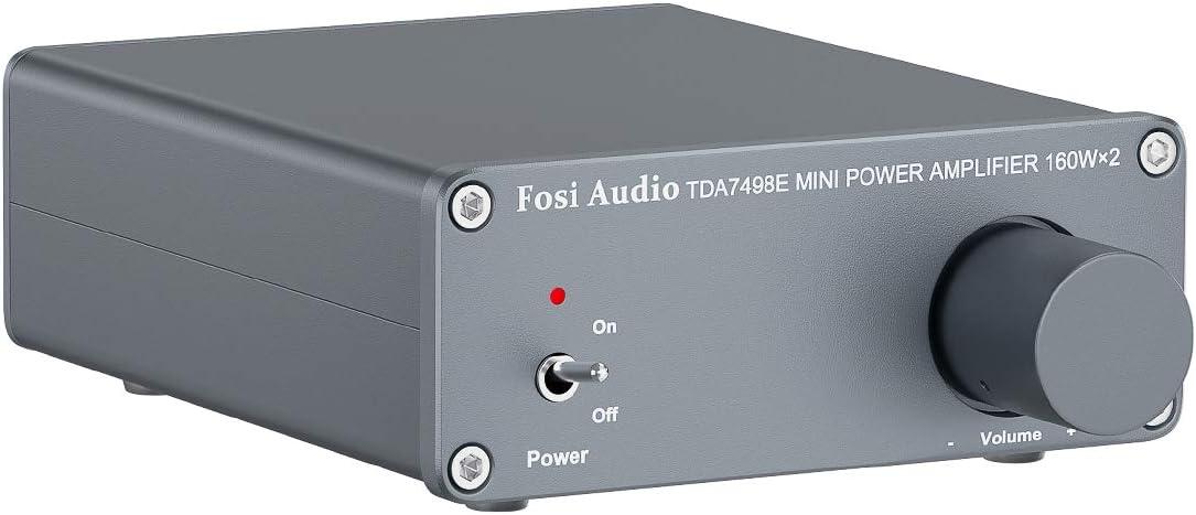 TDA7498E Receptor Amplificador de Audio estéreo de 2 Canales Mini Amplificador Integrado de Clase D de Alta fidelidad para Altavoces domésticos 160W x 2 + 24V Fuente de alimentación