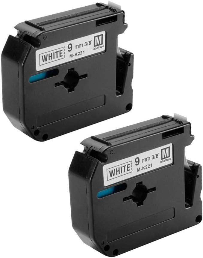 Tape Cassette M221 M-K221 MK221 M-221 Label Compatible For Brother P-Touch PT-90 PT-M95 PT-70BM PT-70 PT-65 PT-85 PT-45 LabelMaker 3//8 X 26.2 9mm X 8m Black On White BI1042 Daily Necessities Elect