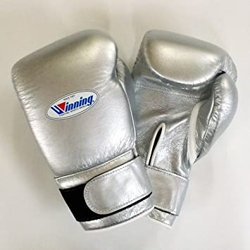 Winning Velcro Training Boxing Gloves 16oz (Silver): Amazon