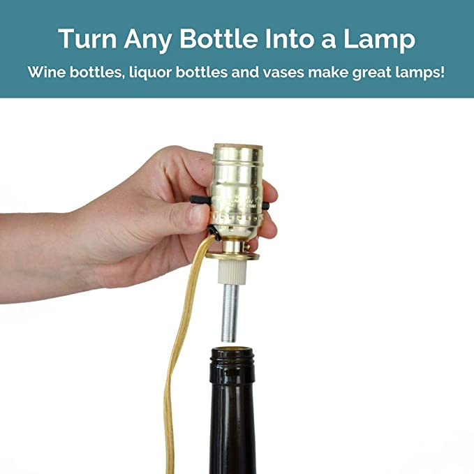 Bottle Lamp Wiring Kit Turn A Wine Bottle Into A Lamp With This