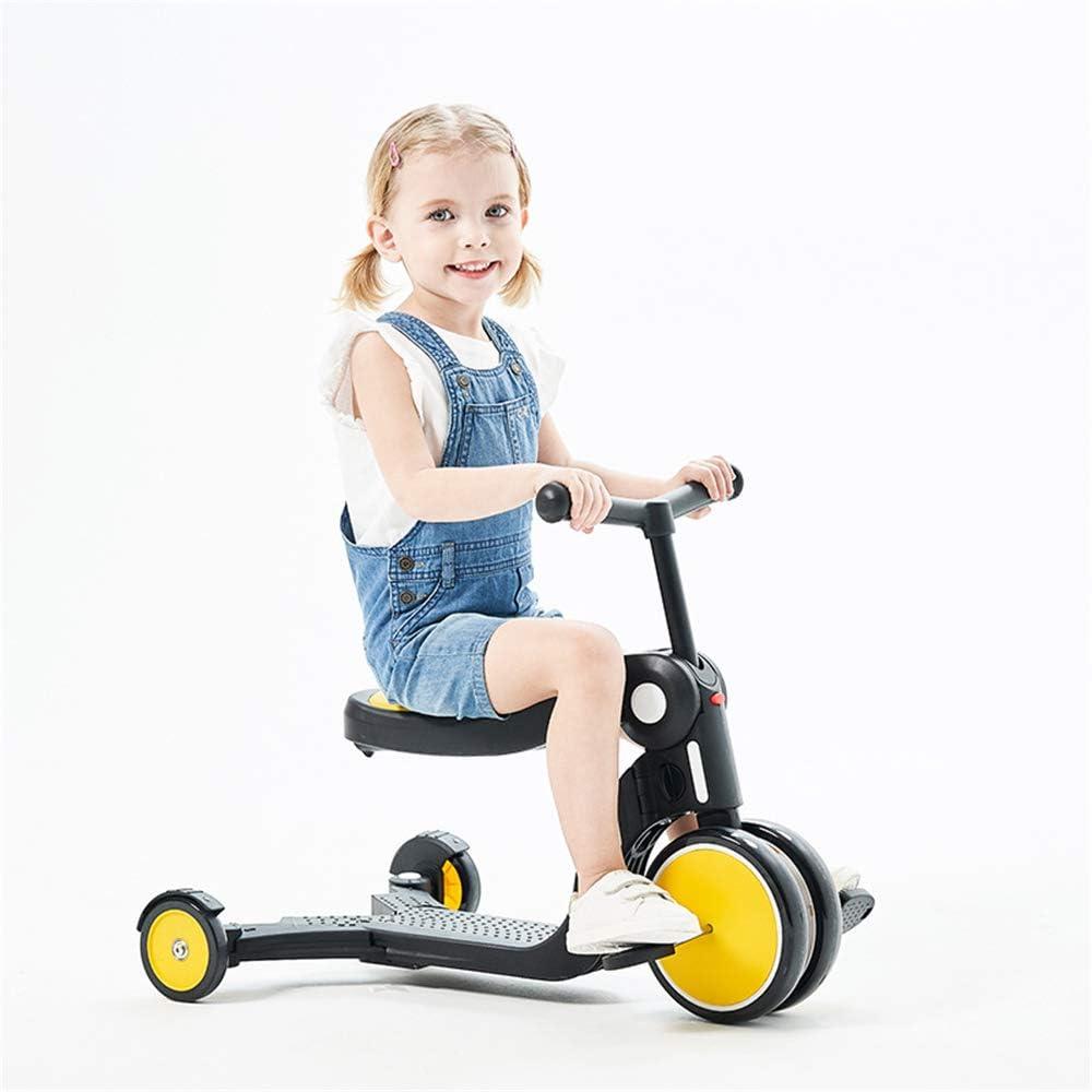 illskw31 Scooter para niños, Triciclo Multifuncional de Bicicleta de Equilibrio Deslizante para niños de 1 a 6 años