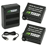 Wasabi Power Battery (2-Pack) and Dual Charger for GoPro HERO4 and GoPro AHDBT-401 - AHBBP-401