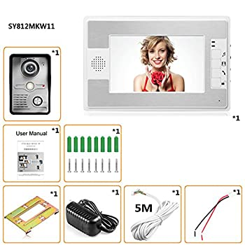 Mountainone 7 Inch Video Door Phone Doorbell Intercom Kit 1-camera 1-monitor Night Vision 8
