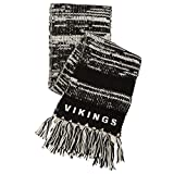 NFL Minnesota Vikings Moto Marled Scarf, One Size, Black/White