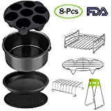 Larger Size Air Fryer Accessories Set for 3.7,...