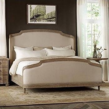 Awesome Hooker Furniture Corsica King Upholstered Shelter Bed In Light Natural
